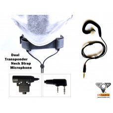 Radio Neck Strap Microphone System XNM785GT-KW  (with Dual Transponders) for Kenwood, Baofeng, & Retevis Radios