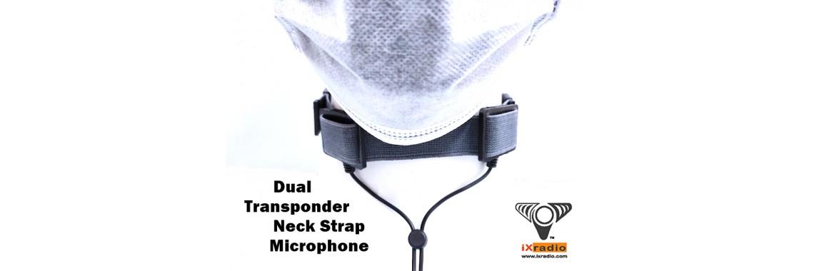 Dual Transponder Neck Strap Microphone