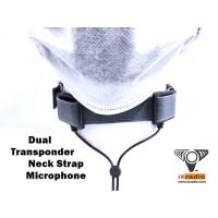"Dual Transponder Neck Strap Microphone - 3.5mm  (1/8"") Connector - XANC772D-D35"