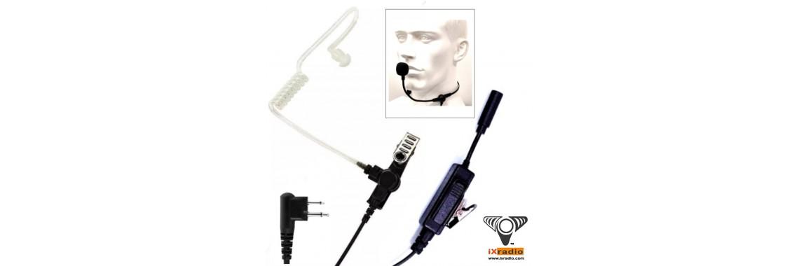Gooseneck PTT mic for Motorola 2 pins