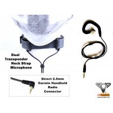 Dual Transponder Neck Strap Microphone for Garmin Handheld Radio - XNM785D-G25
