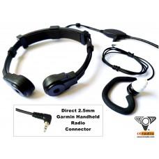 Radio Throat Microphone System XTM685D-G25  (with Dual Transponders) for Garmin Handheld Radios