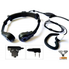 Radio Throat Microphone System XTM685GT-KW  (with Dual Transponders) for Kenwood, Baofeng, & Retevis Radios