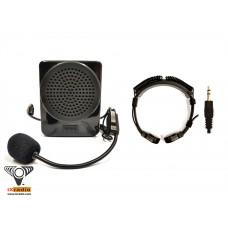 Voice Amplifier XVA-ZQ30-T822D - with Throat Microphone (Dual Transponders)