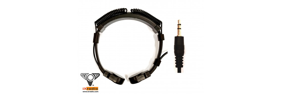 Dual Transponders Throat Mic with 3.5mm Connector