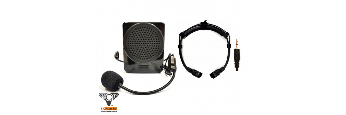 Throat Mic with Personal Voice Amplifier