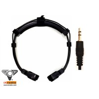 """Dual Transponder Throat Microphone - 3.5mm  (1/8"""") Connector - XVTM822D-D35"""
