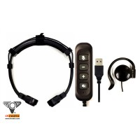 USB Throat Microphone System - XCTM825L-USB  (with Dual Transponders)