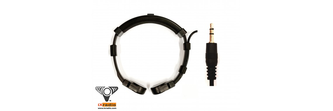 Single Transponder Throat Mic with 3.5mm Connector