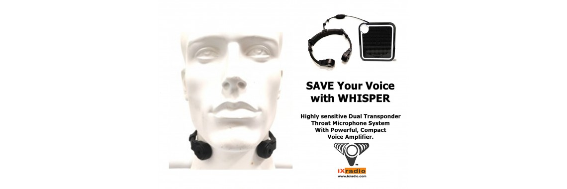 Dual Transponder Throat Mic With Voice Amplifier