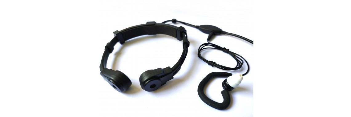 Gaming Throat Mic with Triple flange Ear tip Earphone