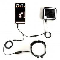 Voice Amplifier + Throat Mic + Audio Adapter For Smartphone App Enhancement -  XVA-VC319-TSA25