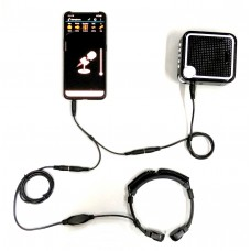 Voice Amplifier + Throat Mic + Audio Adapter For Smartphone App Enhancement -  XVA-VC319-TSA25