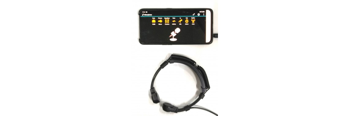 Throat Microphone App Amplifier Package  XVA-VC319-TSA25