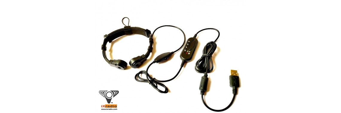 Dual Transponder USB Throat Mic