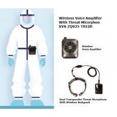 Powerful Portable Loudspeaker With Wireless Dual Transponder Throat Microphone